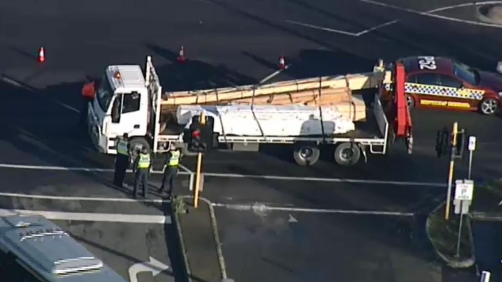 Police seek to identify pedestrian hit by truck on Melbourne road