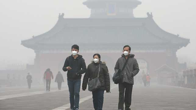 More than 90 percent of world is breathing bad air