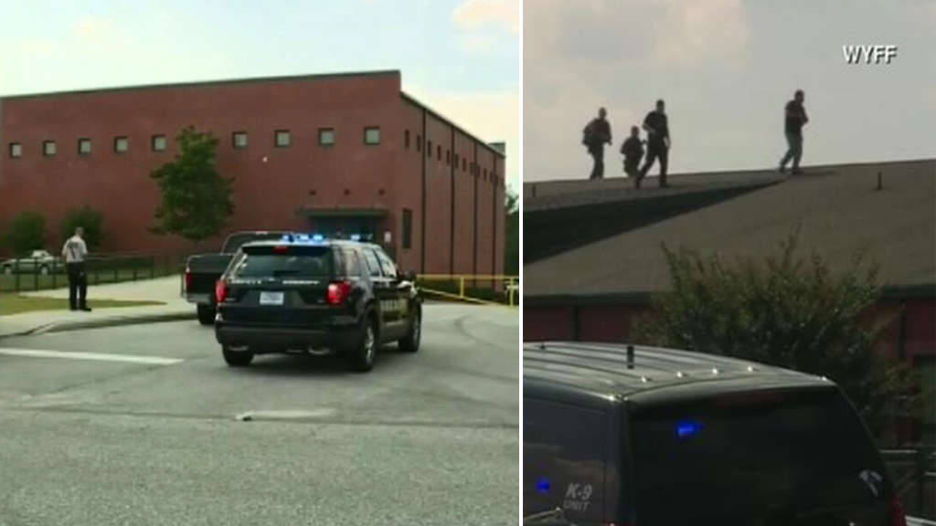 Police at Townville Elementary School. (WYFF News 4)