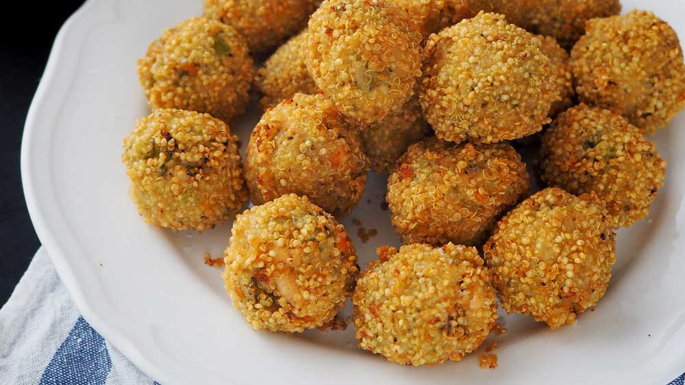 Gluten free salmon and broccoli arancini. Image: Tilda