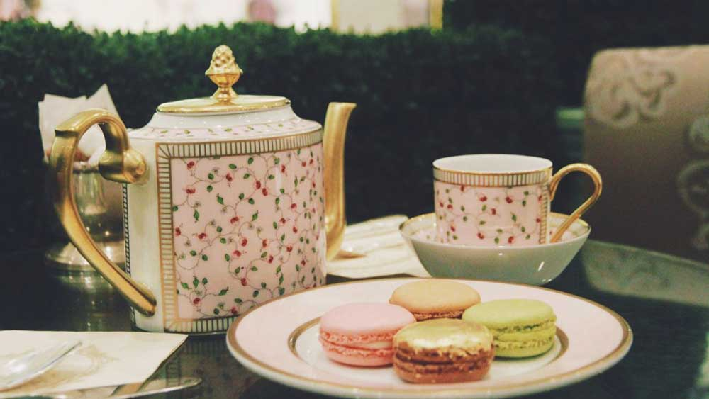 Laduree tea and macaron spread, Melbourne site. Image: Supplied