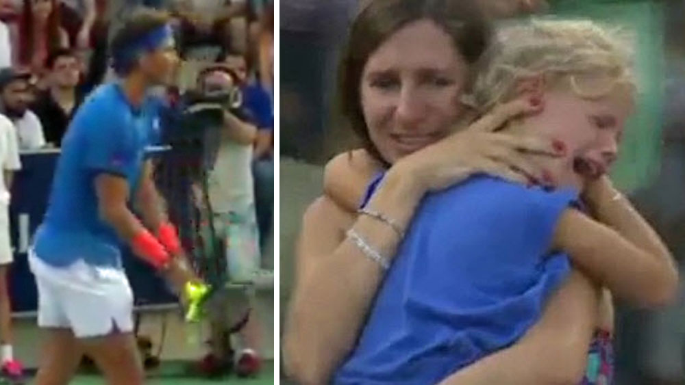 Tennis: Nadal stops match to help find lost child