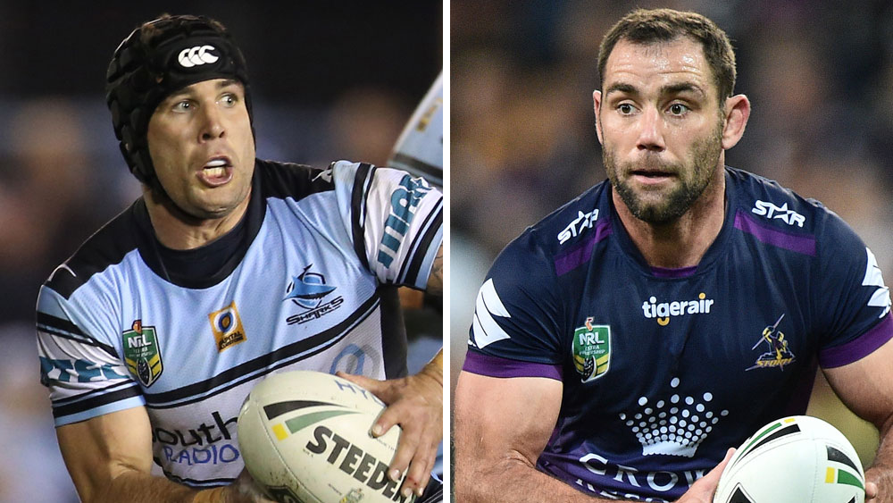 Michael Ennis and Cameron Smith. (AAP)