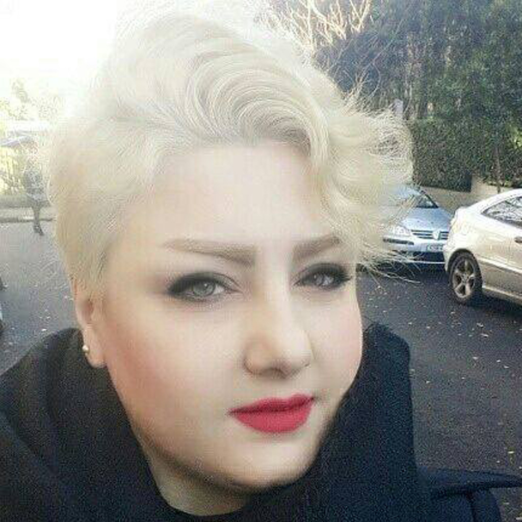 Ms Abek worked as a hairdresser after coming to Australia from Iran. (Facebook)