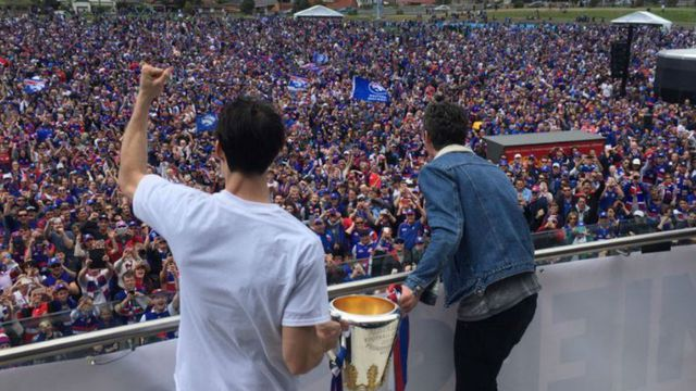 In pictures: Thousands flock to Whitten Oval to celebrate Western Bulldogs' premiership