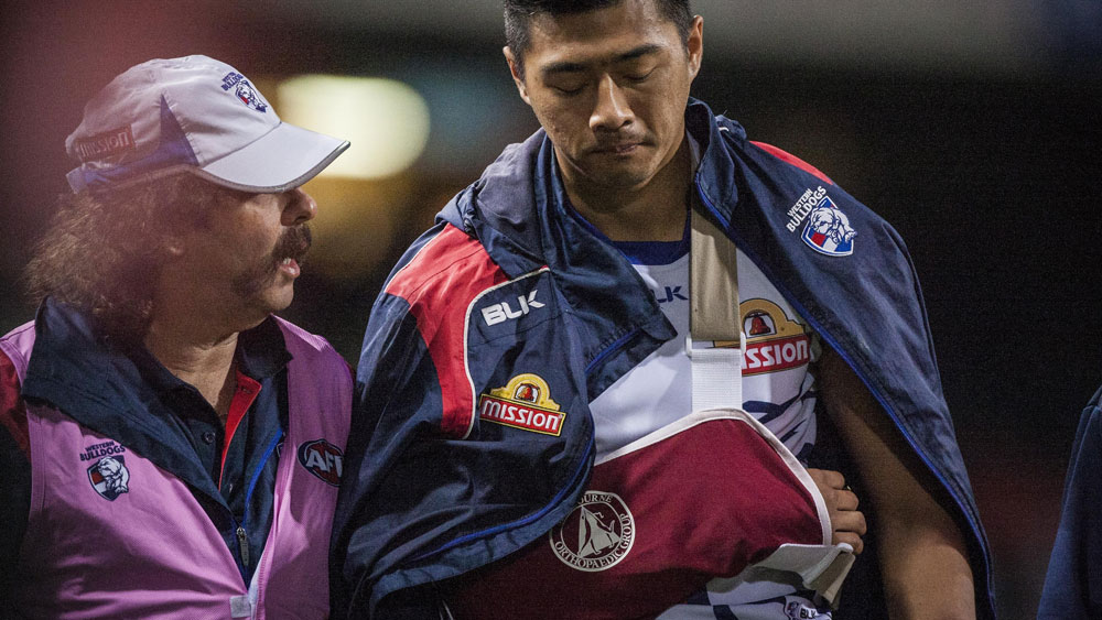 Lin Jong has re-signed with the Western Bulldogs. (AAP)