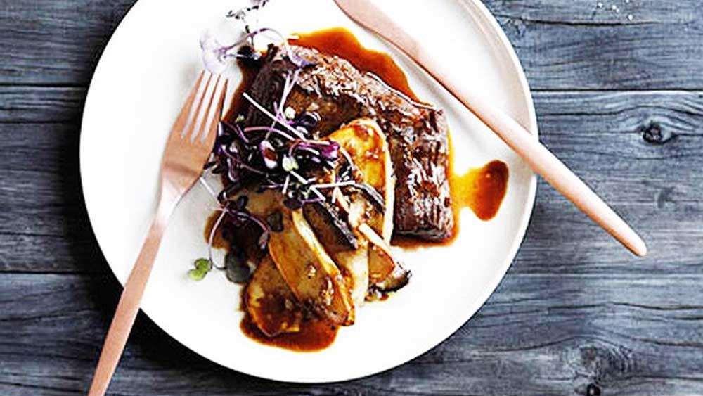Steak with madeira sauce