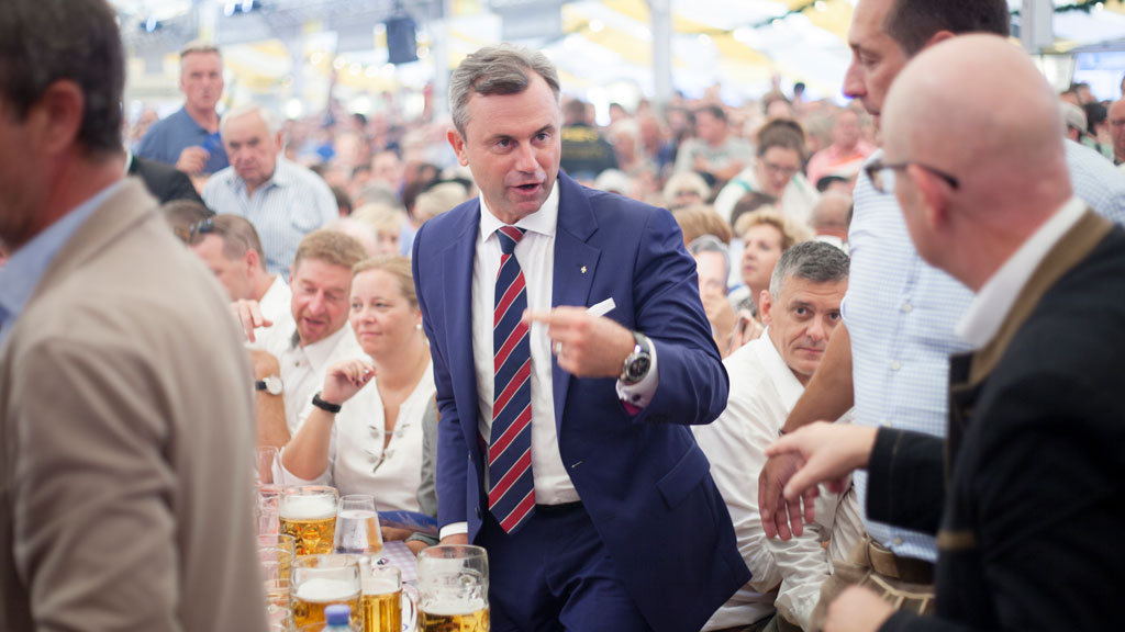 Candidate of the Freedom Party of Austria (FPOe) Norbert Hofer. (Alex Halada/APA-PictureDesk via AFP)