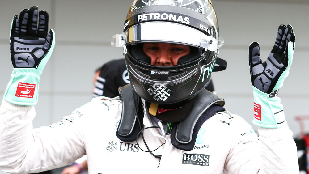 Nico Rosberg will start from the front of the grid. (AAP)