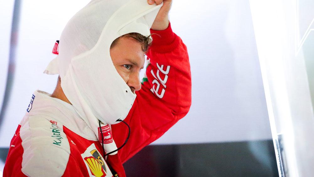 Ferrari driver Sebastian Vettel. (AAP)
