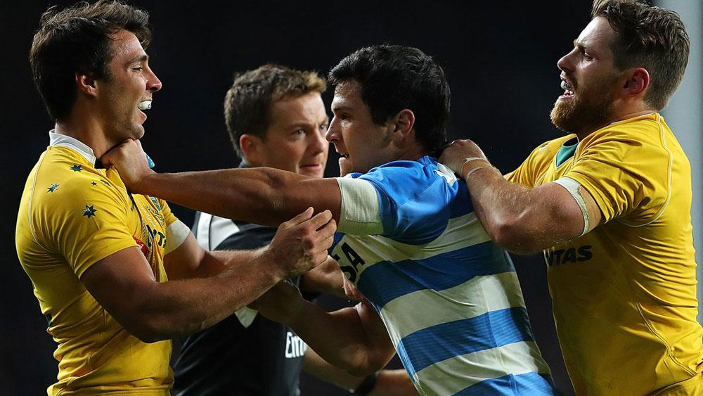 Wallabies edge Pumas in feisty clash