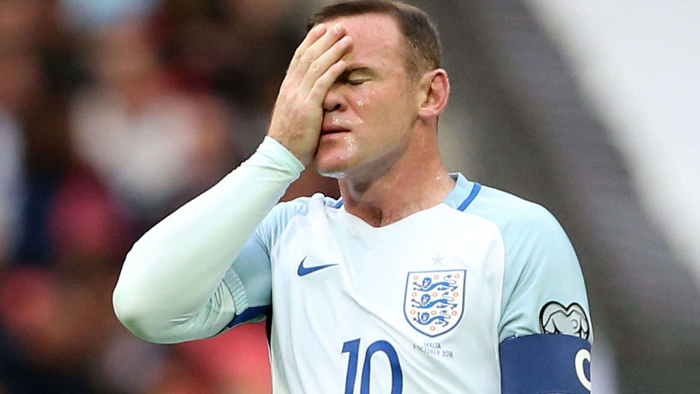 Wayne Rooney and England had a mixed day. (AAP)