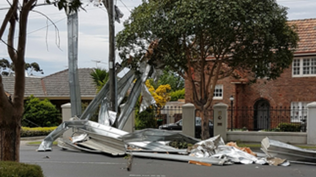 The severe gusts caused the roof of a home in Glenroy to be torn off. (9NEWS)