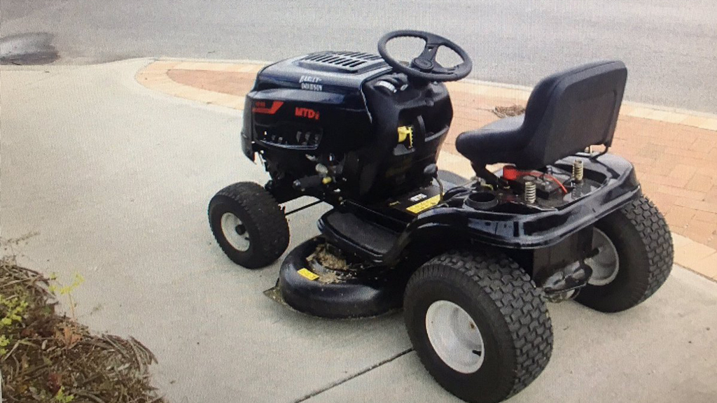Perth man stopped for allegedly driving lawnmower while drunk