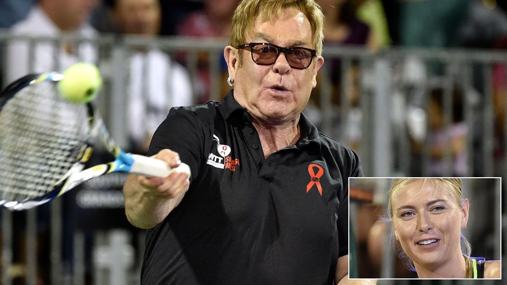 Elton John steals show as Sharapova makes comeback