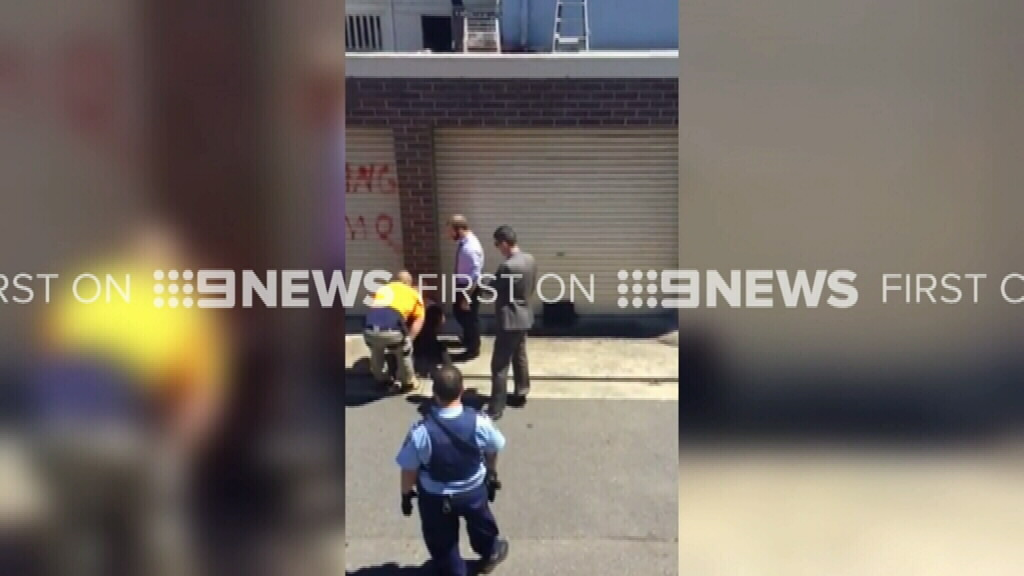 9NEWS obtained video of the arrest in Bankstown.