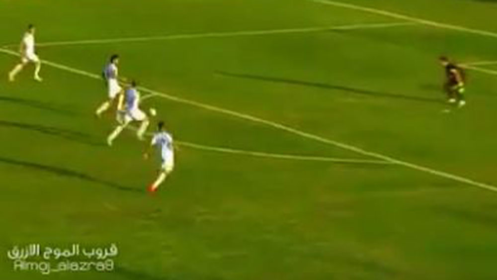 Iraq football team somehow waste four on one chance to score