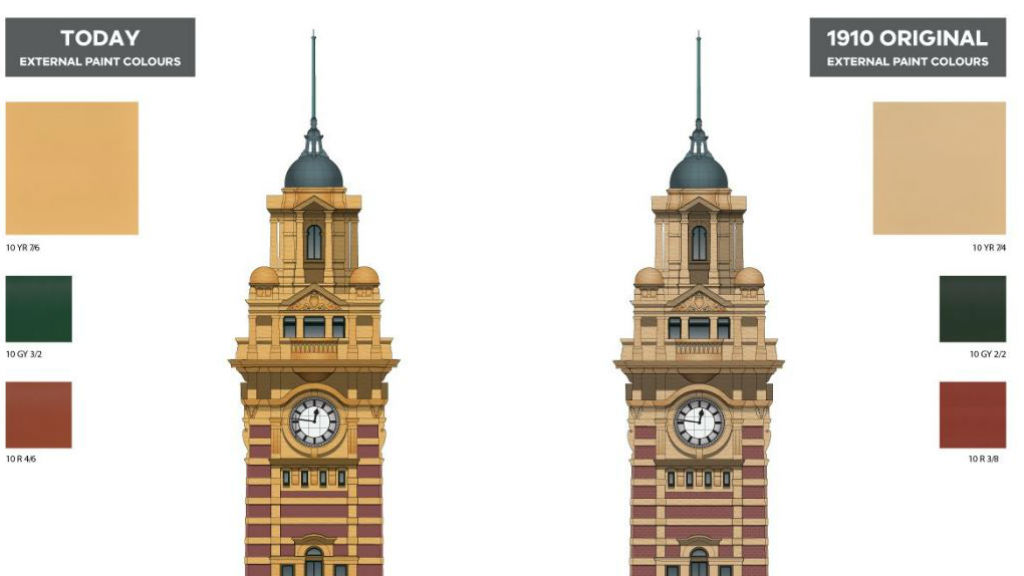 Flinders St station painted back in time