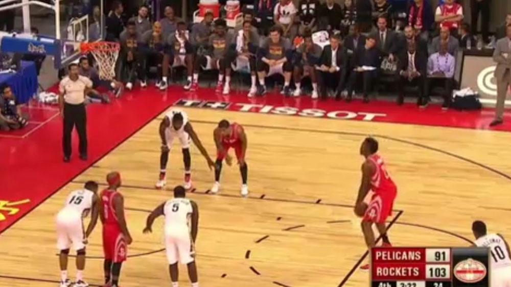 NBA: Rockets rookie lands underhand free throws
