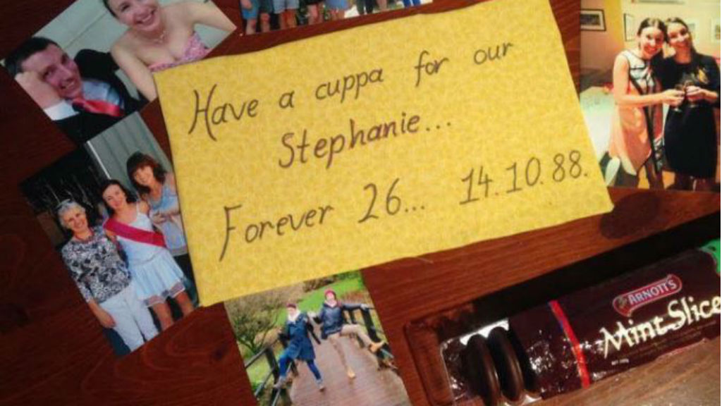 Public marks Stephanie Scott's birthday with cup of tea and a mint slice