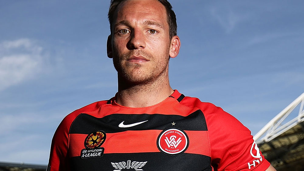 Brendon Santalab was the hero for the Wanderers. (AAP)
