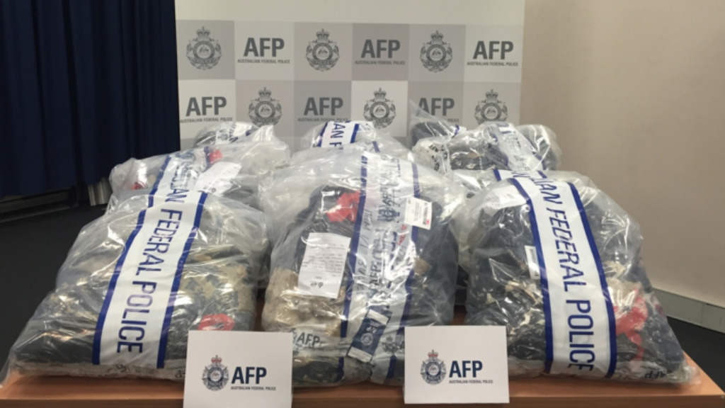 More than 1.2 tonnes of MDMA were seized by Australian Federal Police. (AFP)