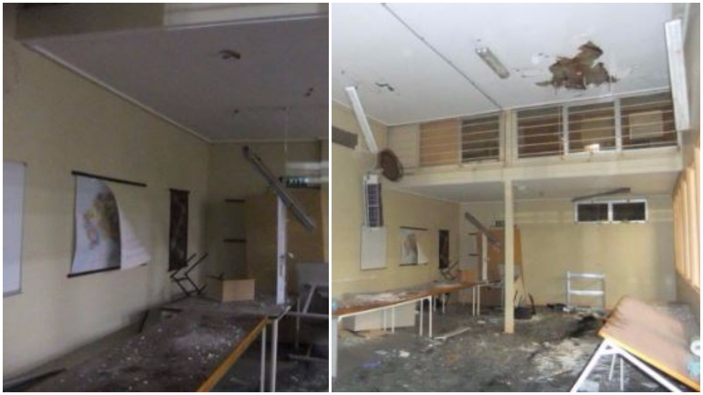 The corrrections department released photos of the gymnasium where the siege started yesterday. (Supplied)