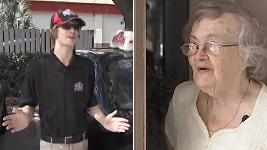 Man enlists pizza delivery driver to check on 'missing' grandmother after hurricane