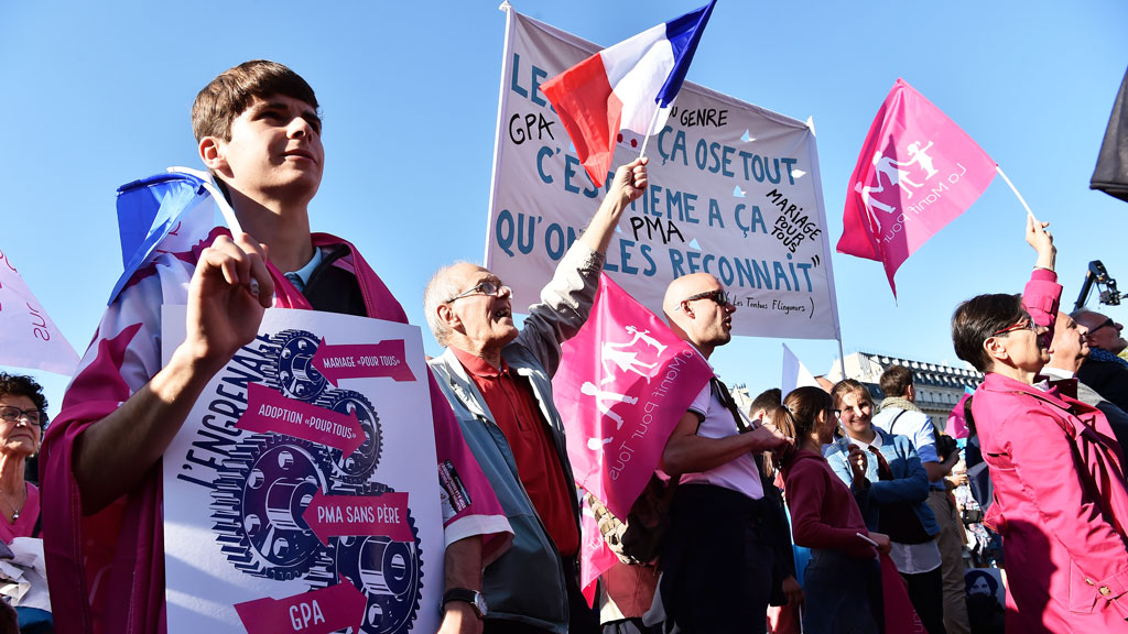 Anti-gay marriage protesters flock to streets of France