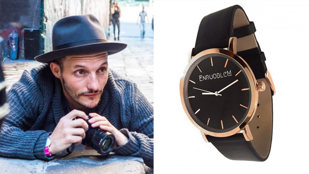 Chris Cincotta said he was launched the EnruobleM watch line in the hopes of supporting his city. (Supplied)
