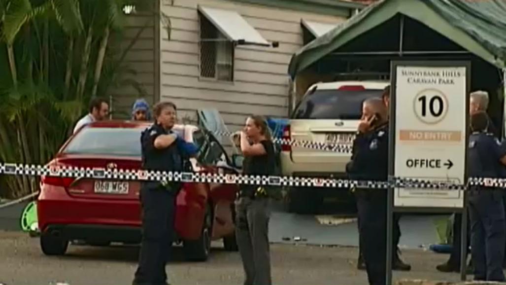 Two men wanted after shooting in Sunnybank Hills caravan park