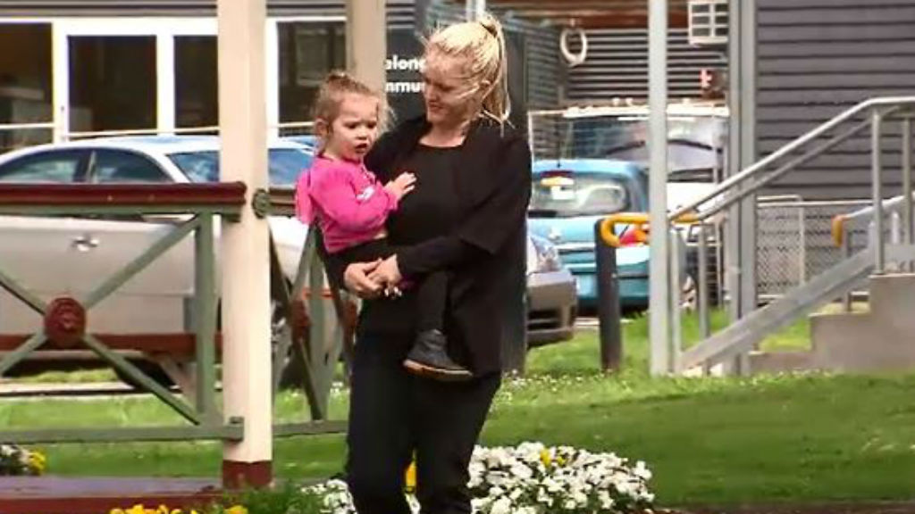 Ashlee faces an anxious wait to find out if her daughter is given the all clear. (9NEWS)