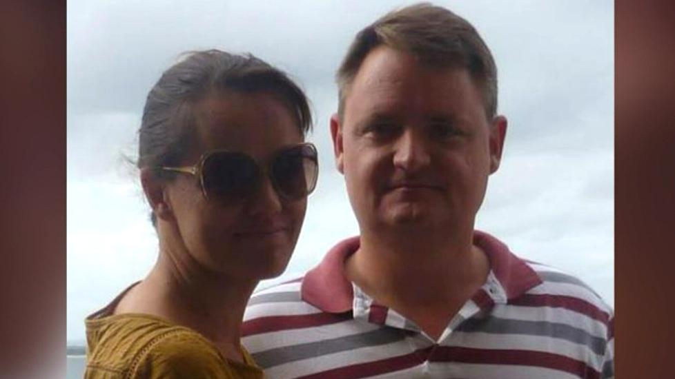 Maria Claudia Lutz and her husband Fernando Manrique. (9NEWS)