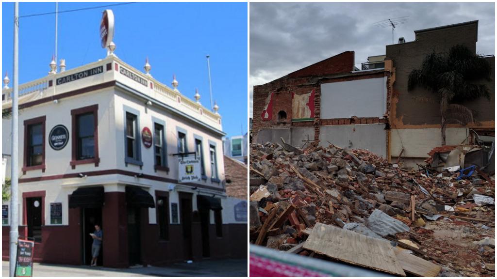 Developers charged over demolition of Melbourne's Corkman Pub