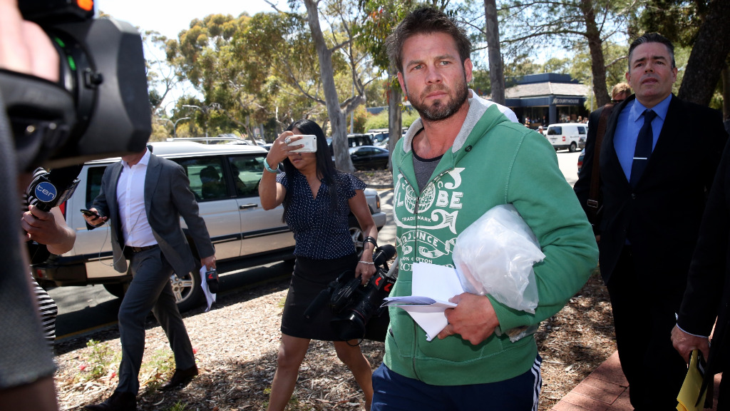 Cousins emerged from Armadale Magistrates Court this afternoon. (9NEWS)