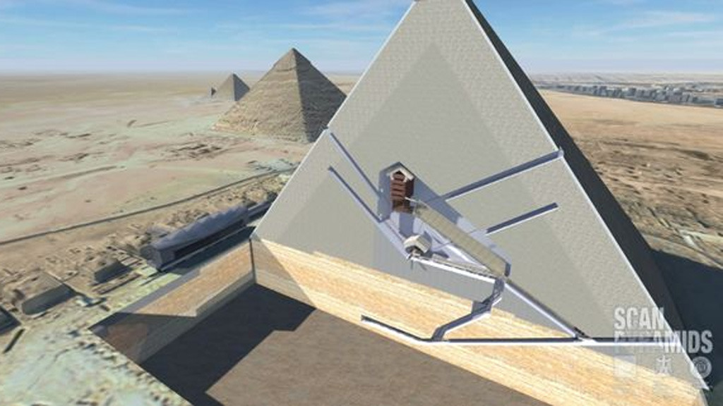Secret chambers found in Pyramid of Giza.