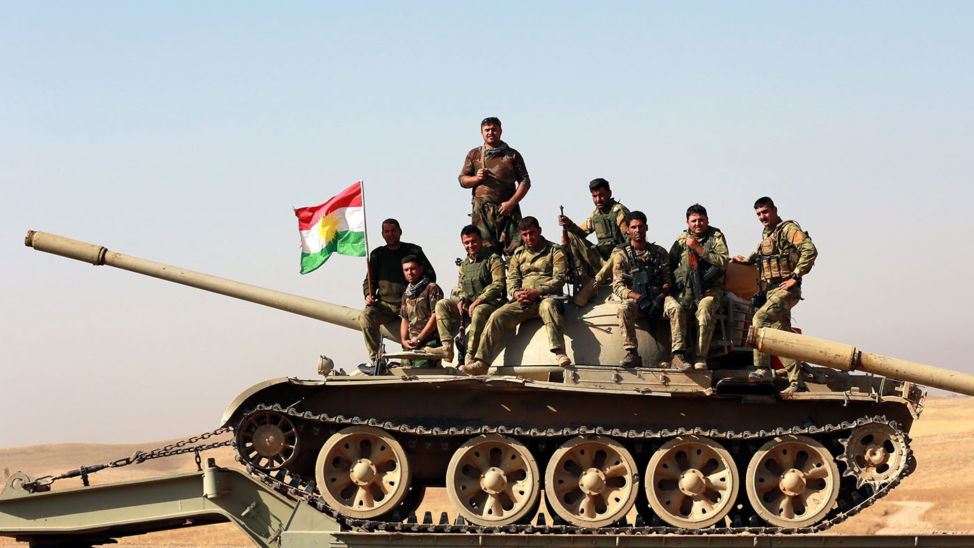 Peshmerga forces take part in an operation to liberate several villages from the control of ISIL. (AAP)