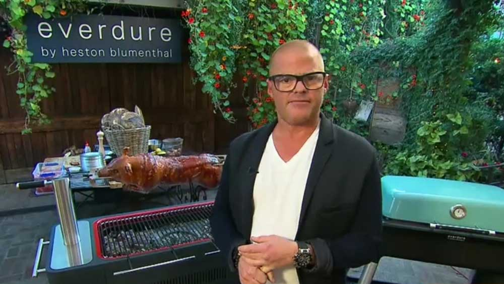 Heston Blumenthal launches new barbecue range, Everdure by Heston. Image: TODAY