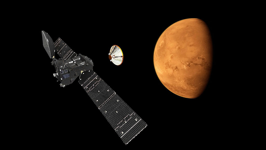 Euro-Russian craft successfully enters Mars's orbit, but lander's fate still unknown