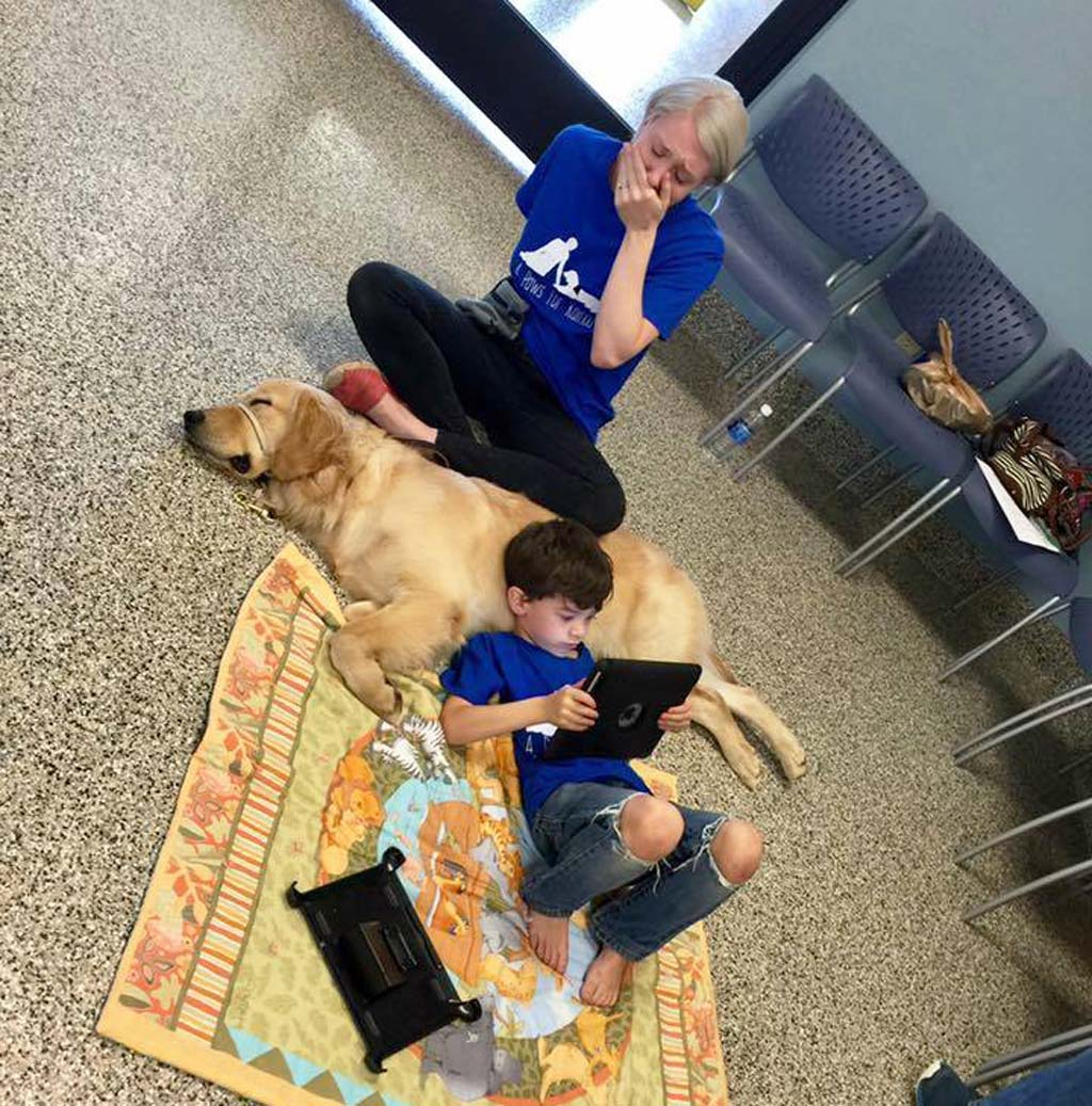 Mum of highly sensitive boy with autism weeps as he finds peace with service dog