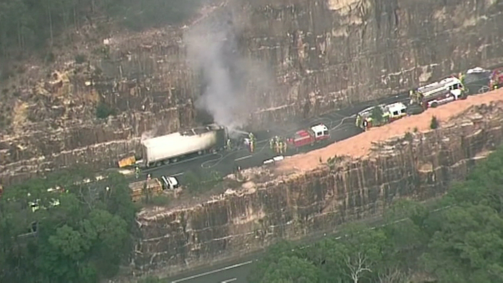 M1 reopens after truck fire