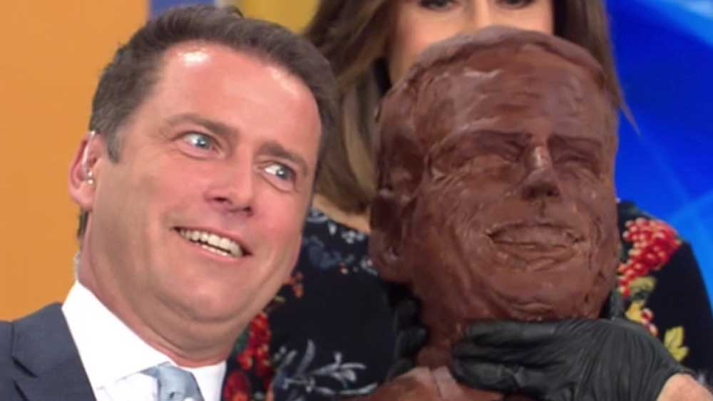 Karl's chocolate face