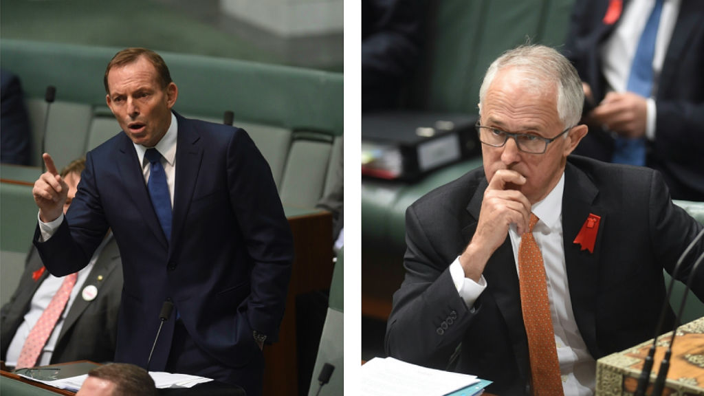 The prime minister has accused Tony Abbott of being aware of negotiations with crossbenchers involving a shotgun import pause. (AAP)