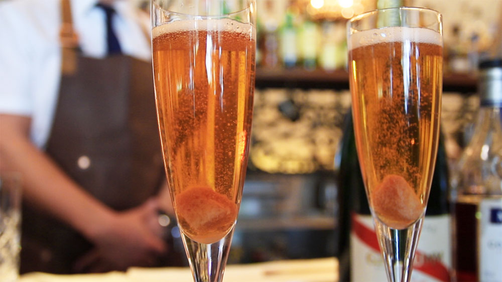 Easy classic Champagne cocktail recipe. Image: 9Kitchen