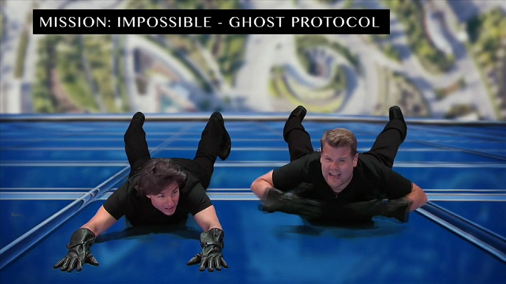 The duo acted out several iconic scenes from Mission Impossible franchise.