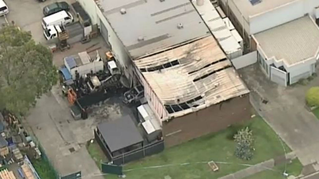The blaze destroyed the factory. (9NEWS)