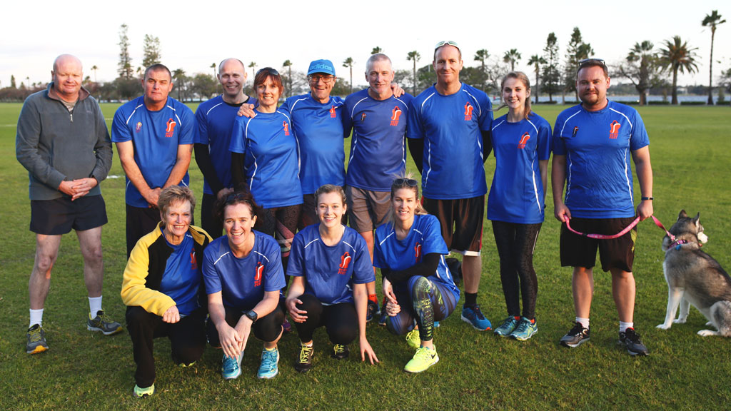 Members of the On My Feet running program. (James Carmody)