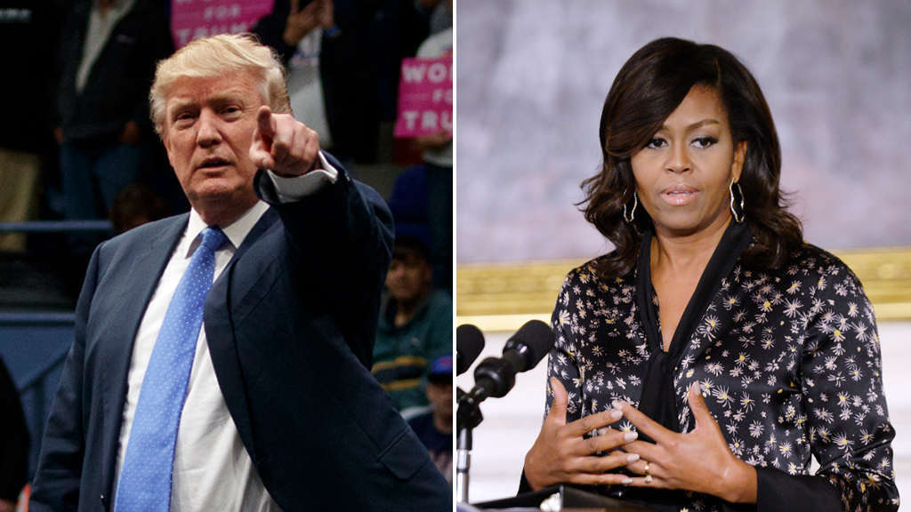 Donald Trump, and Michelle Obama. (AAP file images)