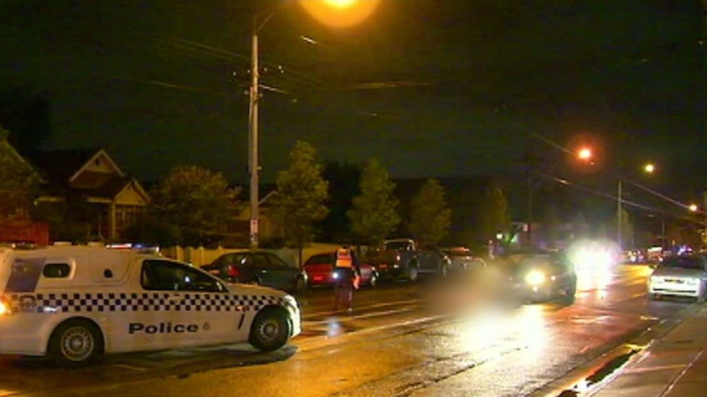 The 58-year-old woman was struck in Coburg on Saturday night. (9NEWS)