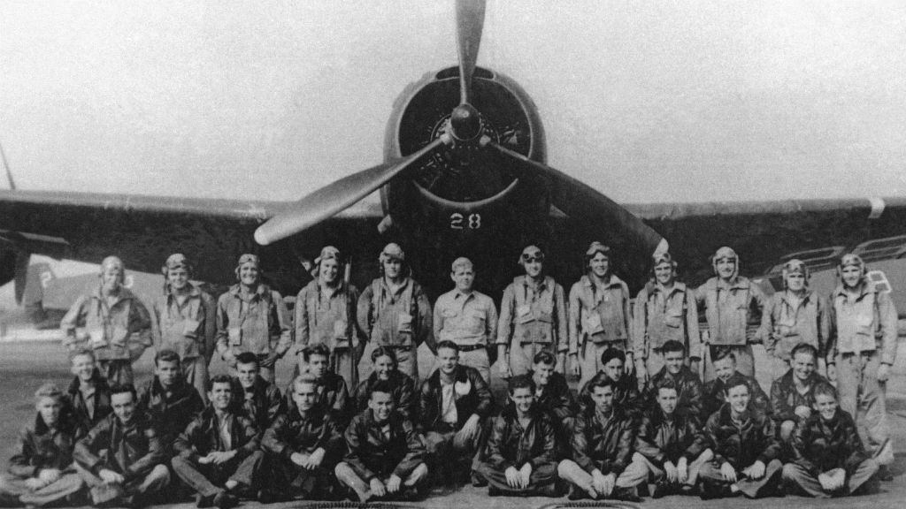 """Torpedo Bomber #28, the lead plane of Flight 19, known as """"Lost Squadron"""", which vanished Dec. 5, 1945, off the coast of Florida"""